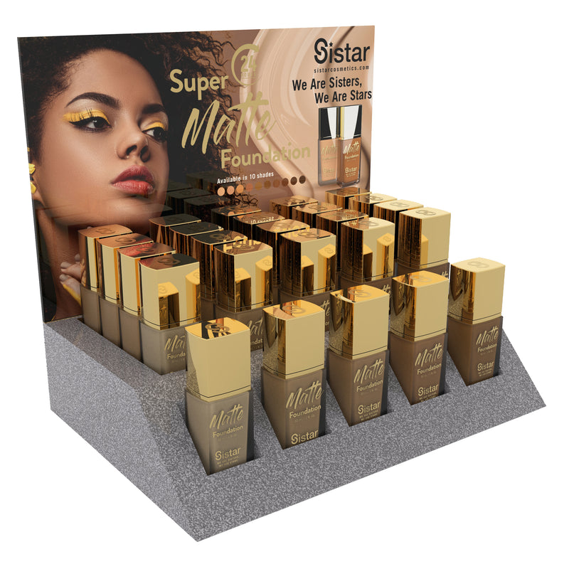 Super Matte Foundation | Paper Counter Display
