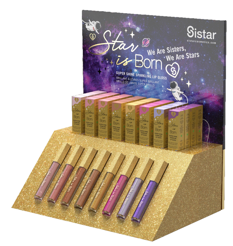 Star Is Born Holographic Lip Gloss | Paper Counter Display