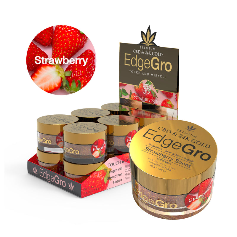 NEW! Fruit Scented CBD & 24K Gold EdgeGro | Strawberry