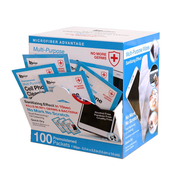 Multi Purpose Cell Phone Cleansing Wipes | Non-Alcohol (100pcs)