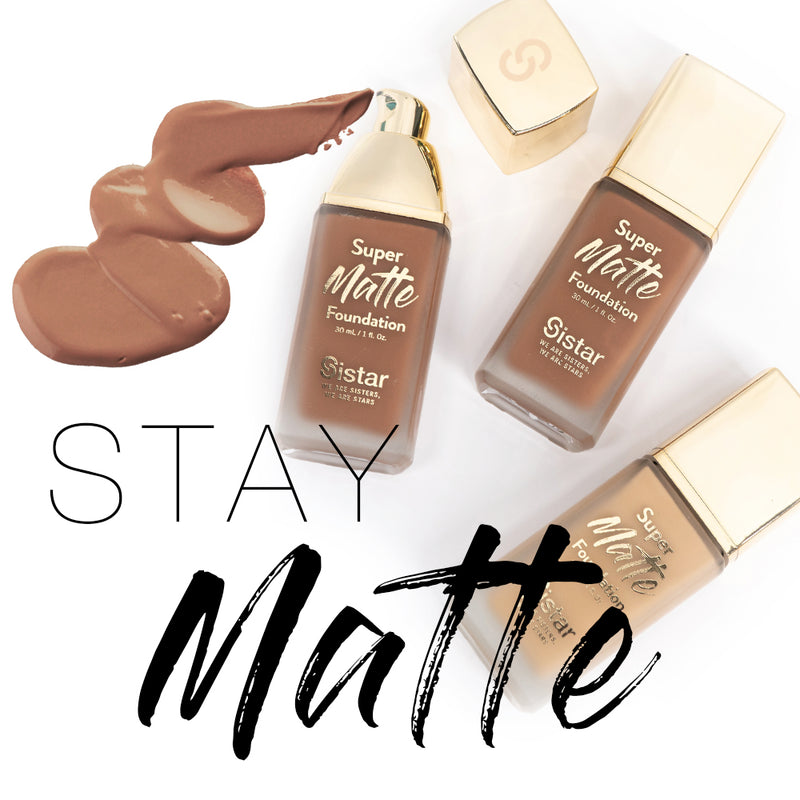 Sistar Super Matte Foundation with Paper Counter Display