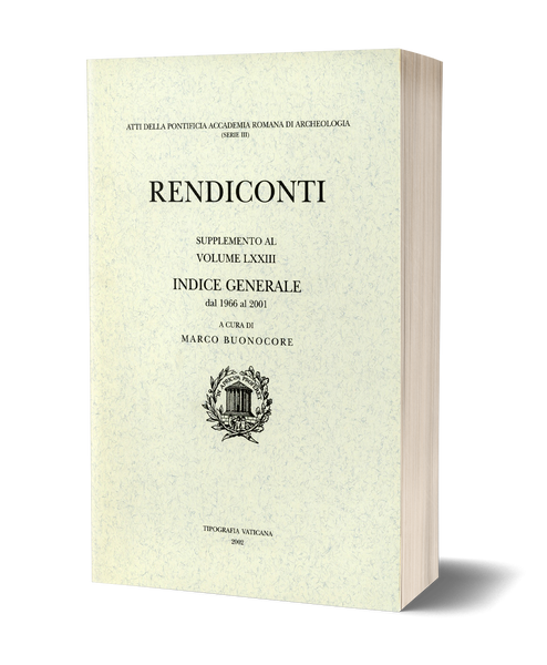 Rendiconti, Supplemento al vol. LXXIII. Indice generale dal 1966 al 2001