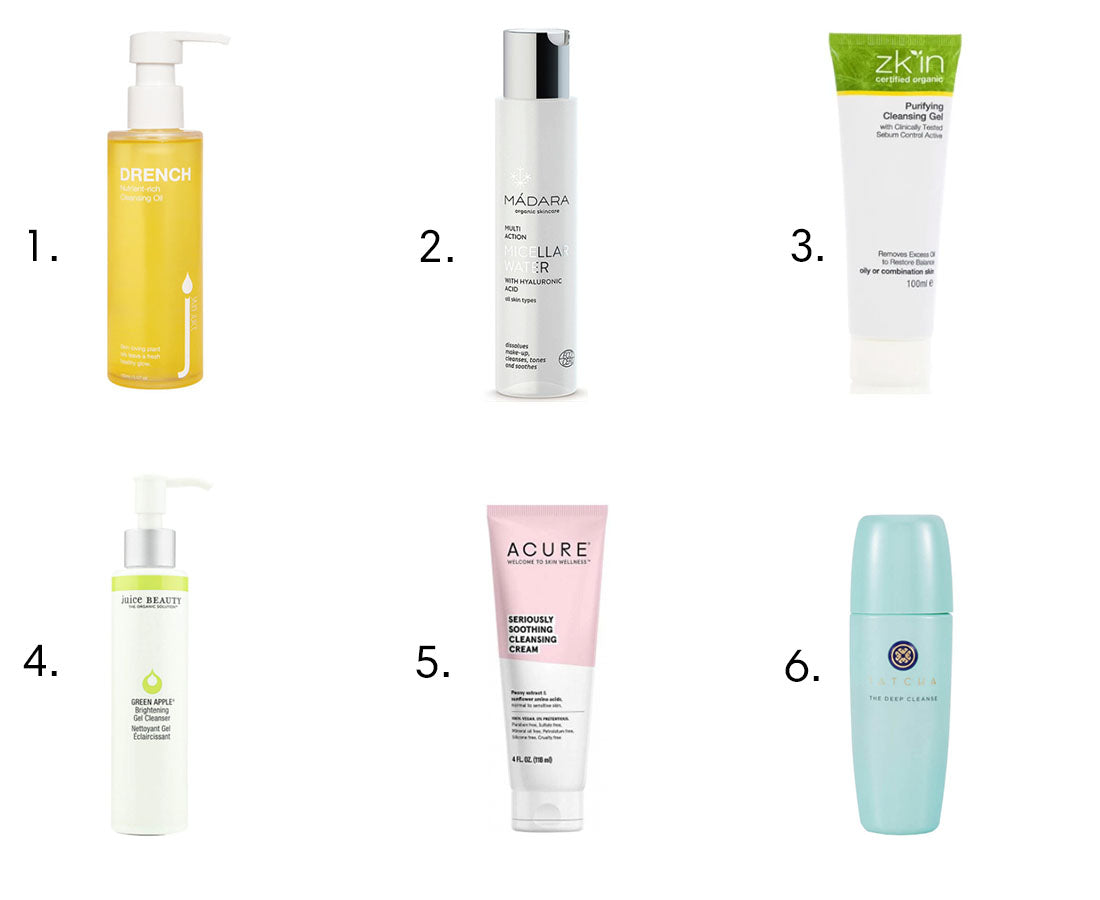 Top 6 Clean Cleansers