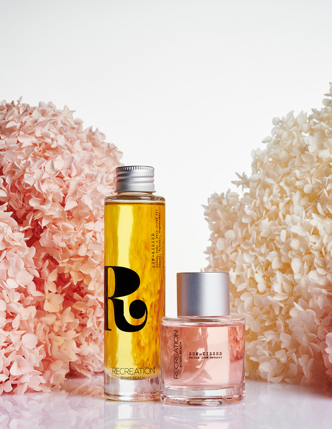 SUN-KISSED fig/citrus fragrance & Luxury body + hair serum oil set
