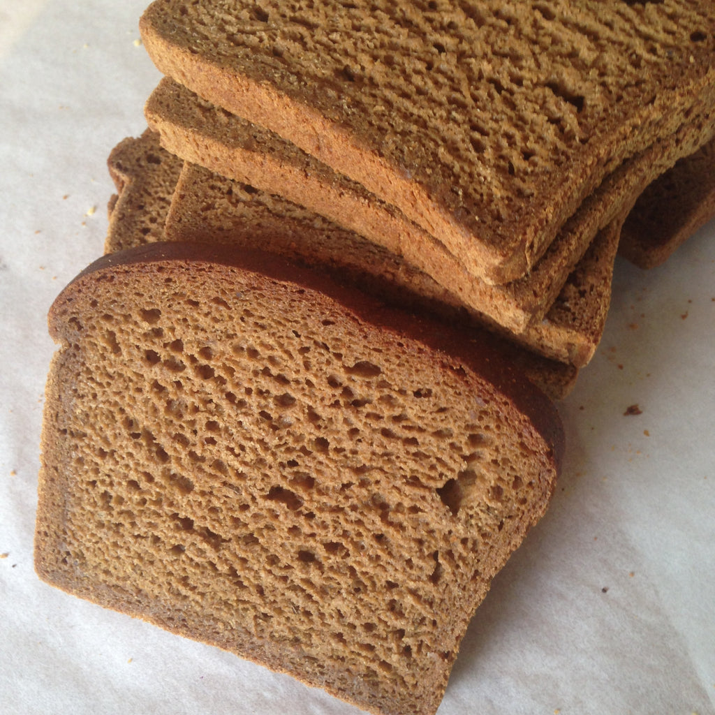 Gluten-free, Vegan Pumpernickel Bread