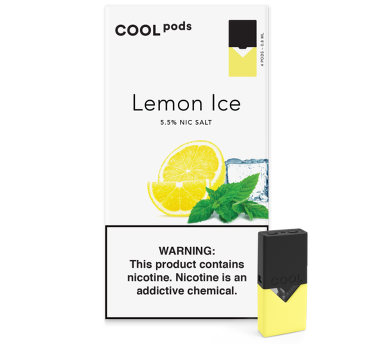 Lemon Ice COOL PODS™ Pods – 4 unds