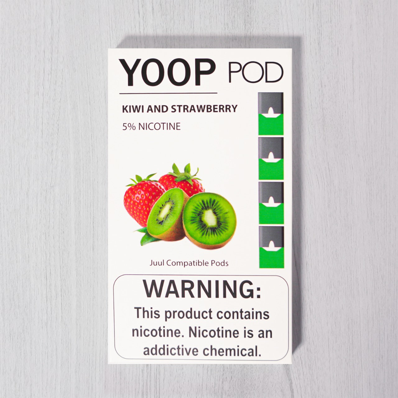 Kiwi and Strawberry YOOP PODS™ Pods – 4 unds