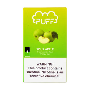 Sour Apple PUFF PODS™ Pods – 4 unds