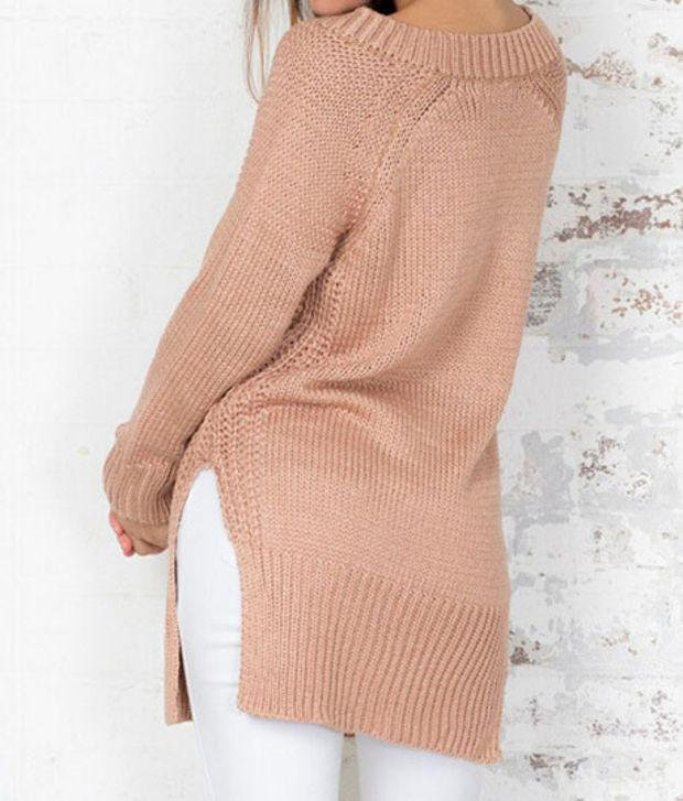 Sexy V-neck loose sweater