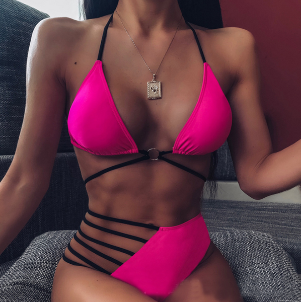 Women Sexy Two-Piece Split Bikini Swimsuit