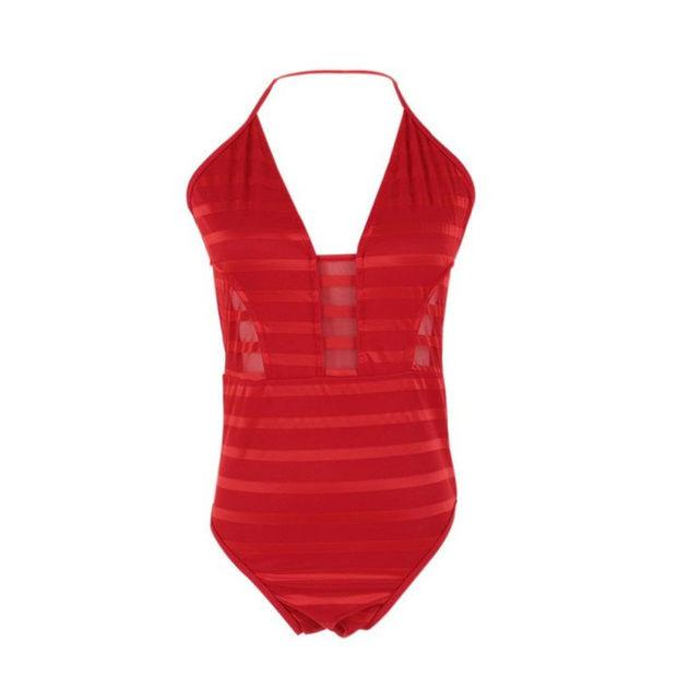 2017 Summer Sexy Push Up Halter One Piece Swimsuit Bandage For Women Beach Swimwear Bathing Suit Bodysuit Conjoined Swimsuit