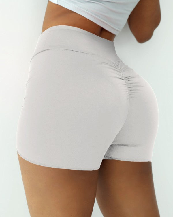 Ruched High Waist Yoga Shorts Leggings
