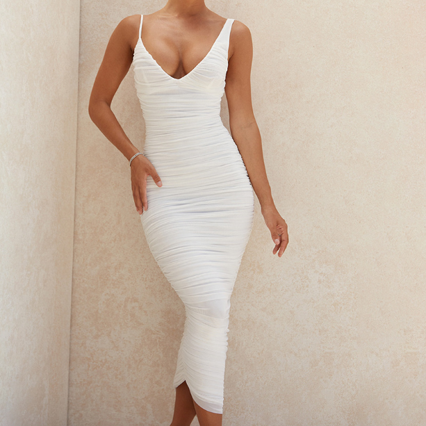 Sling V-Neck Slim Sexy Temperament Dress