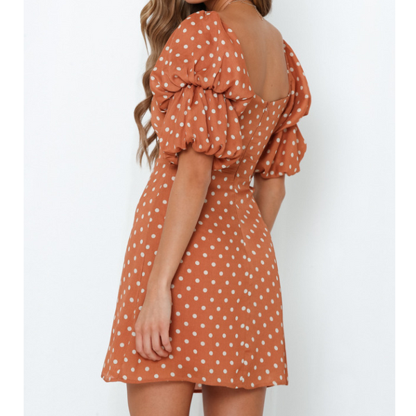 Sexy Short Sleeve Print Dress