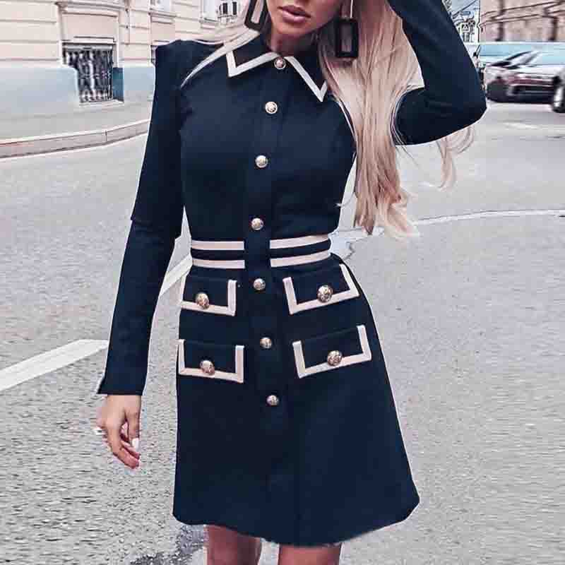 Slim Long Sleeve Dress
