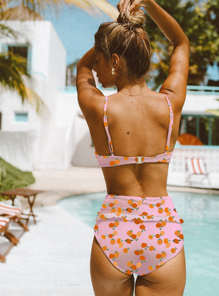 Sexy Printed Bikini High Waist Split Swimsuit