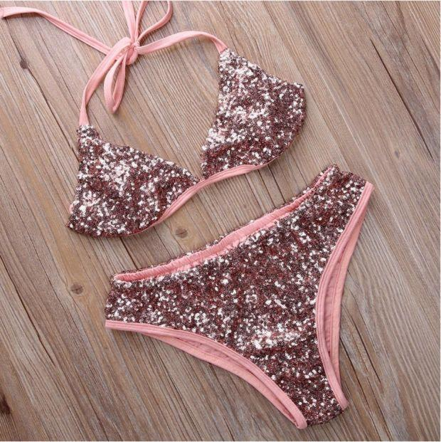 2017 Sexy Swimsuit Sequined Suit