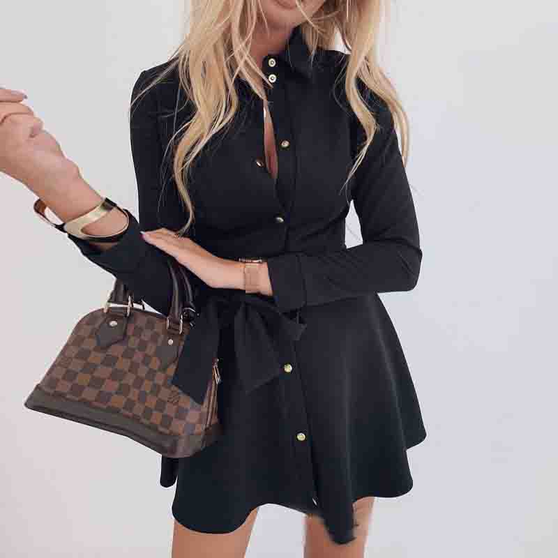 Long Sleeve Button Dress