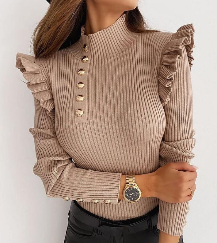 Women'S Long Sleeve Knit Top