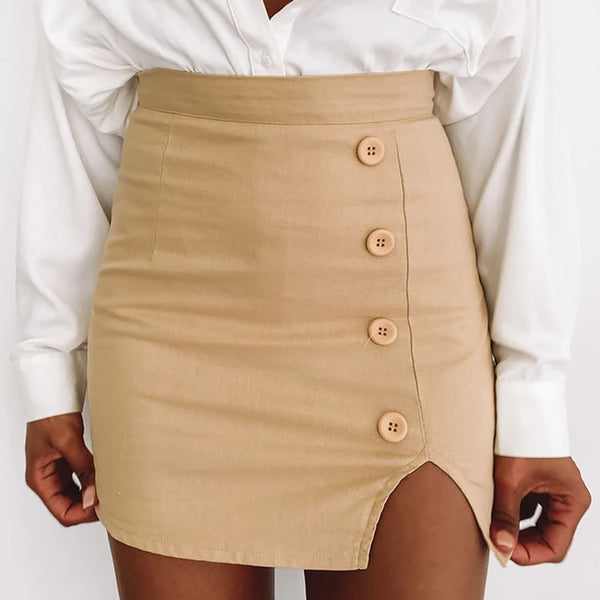 Solid Color Sexy Hip Skirt