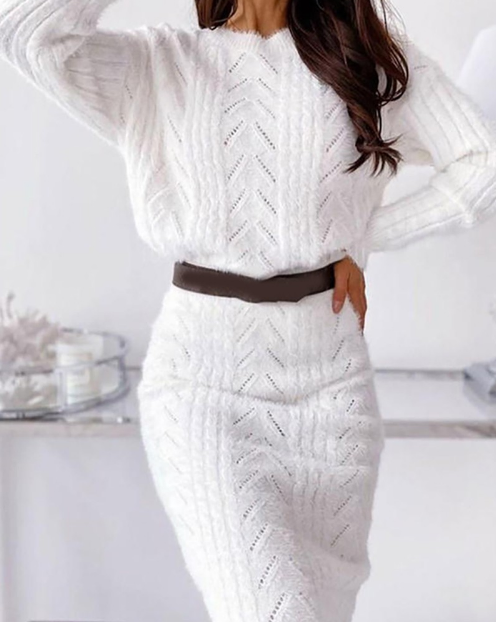 Casual Fashion Solid Color Two-Piece Dress