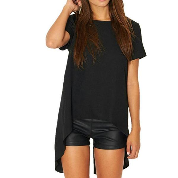 Sweet Round Neck Short Sleeve Shirt