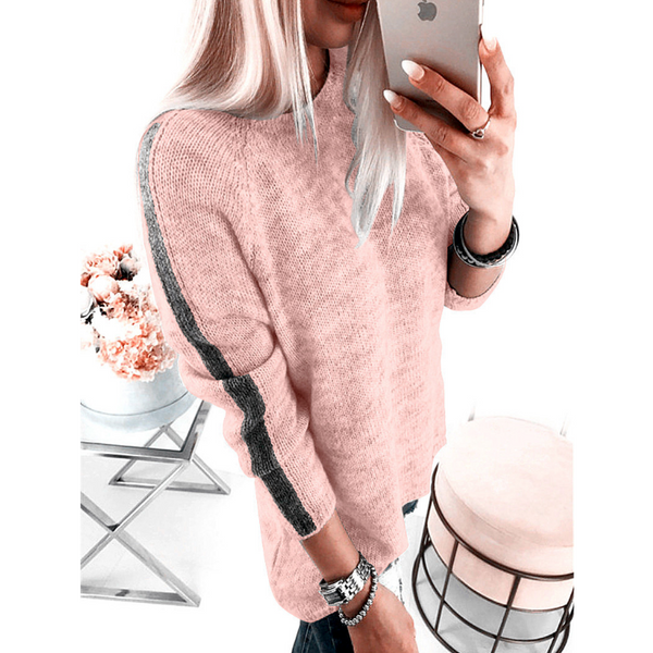 Casual Women'S Round Neck Knitted Sweaters