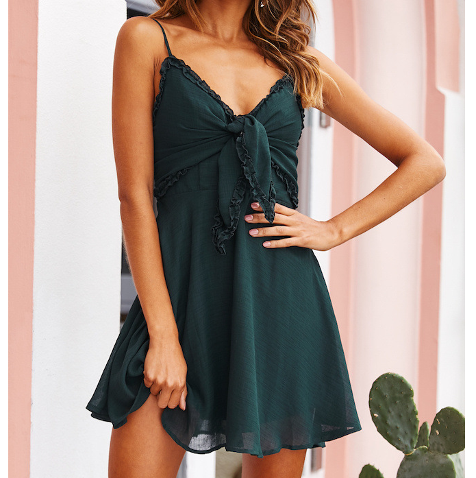 Fashion Sexy Sling Mini Dress