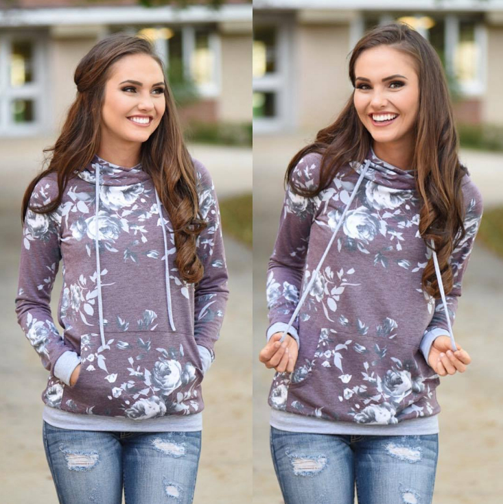 2018 Long-Sleeved Hooded Printing Sweater