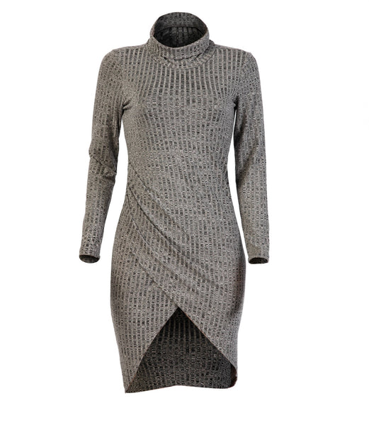 Autumn Women Knitted Long Sweater Dress Sexy Dress
