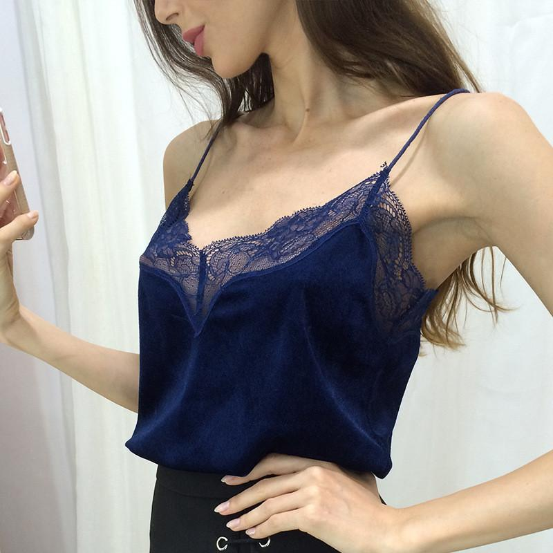 Fashion Sling Lace Vest Top
