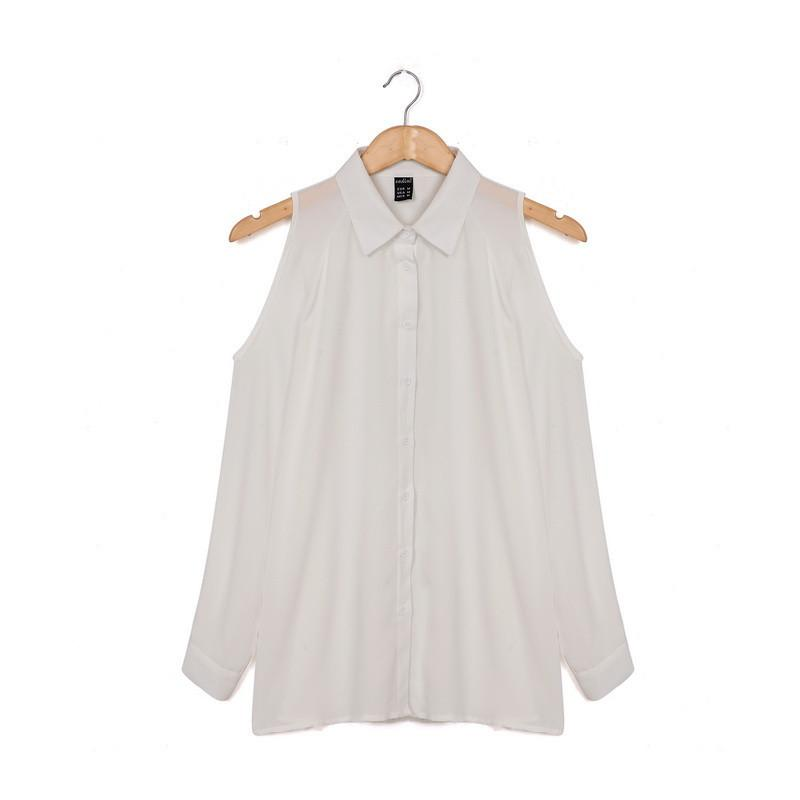 Casual Long-Sleeved Chiffon Shirt