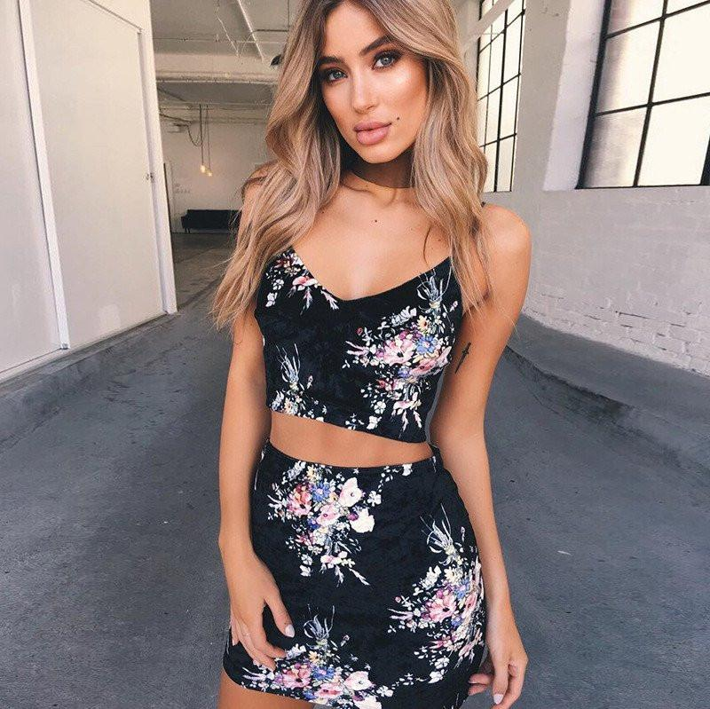 Fashion Sling Two-Piece Dress
