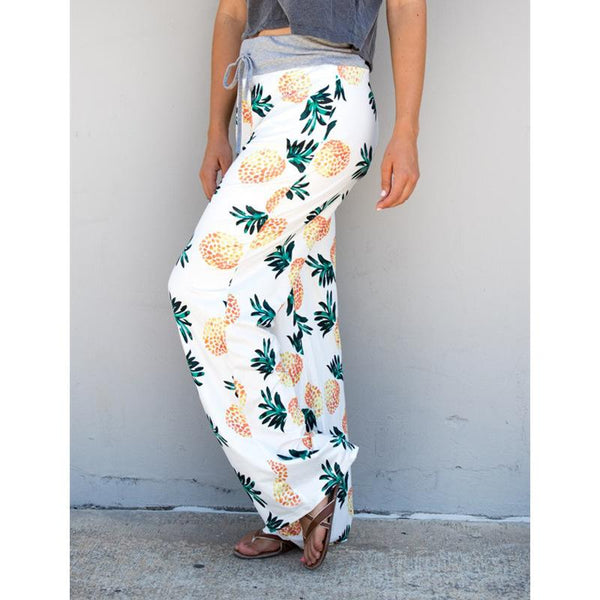 2018 Casual High Waist Pineapple Pants