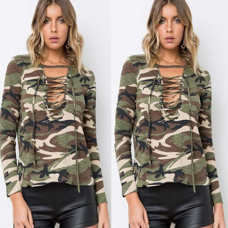 Fashion Camouflage Long-Sleeved Shirt