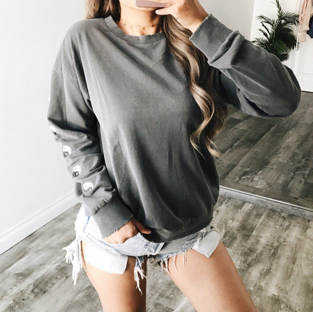 Fashion Casual Round Long Sleeve Sweater