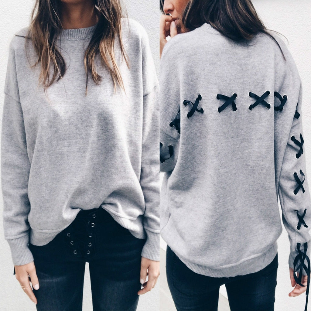 Fashion Bow Long-Sleeved Sweater