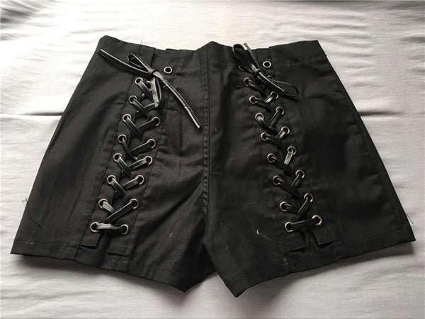 2018 Fashion Black High Waist Shorts