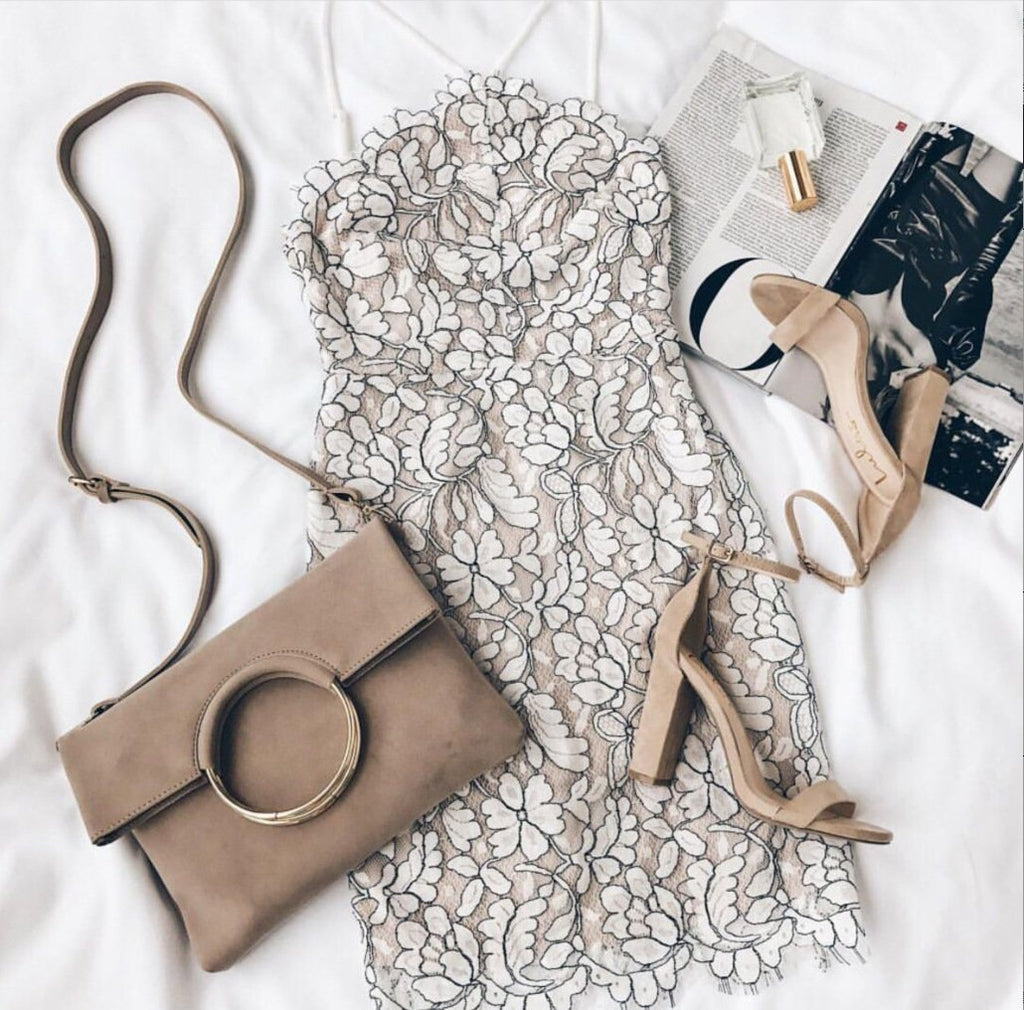 Fashion Printed Lace Dress