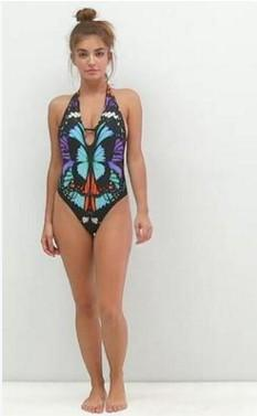 2018 Fashion Butterfly Print Bikini Swimsuit