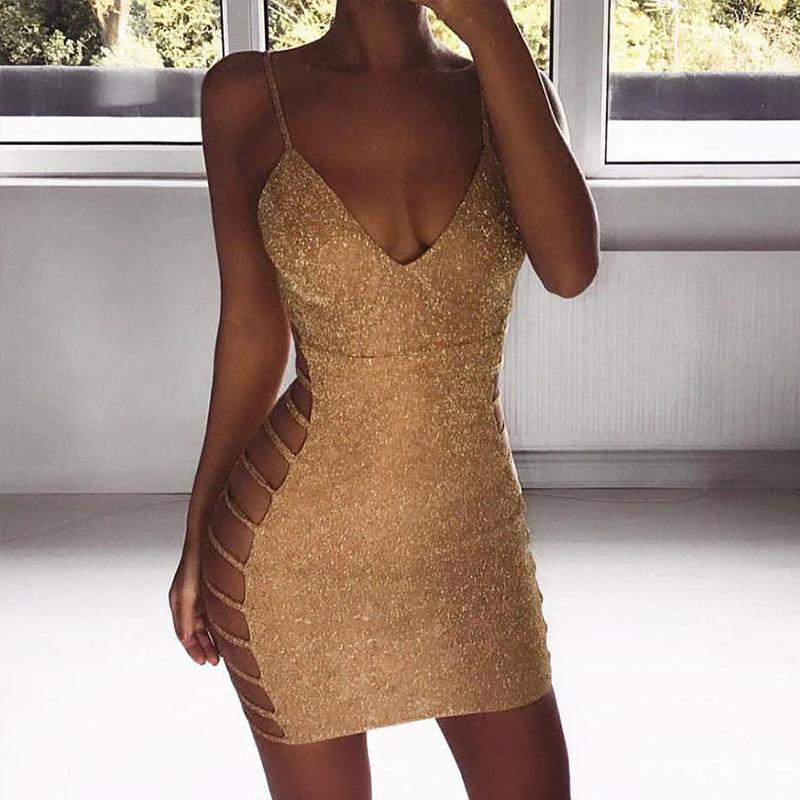 Summer Party Dress Deep V Neck Spaghetti Strap Sleeveless Maxi Sexy Dress Backless Women Cami Bodycon Dress Vestido