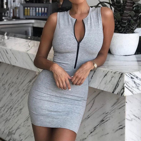 Women'S Bag Hip Zipper Dress