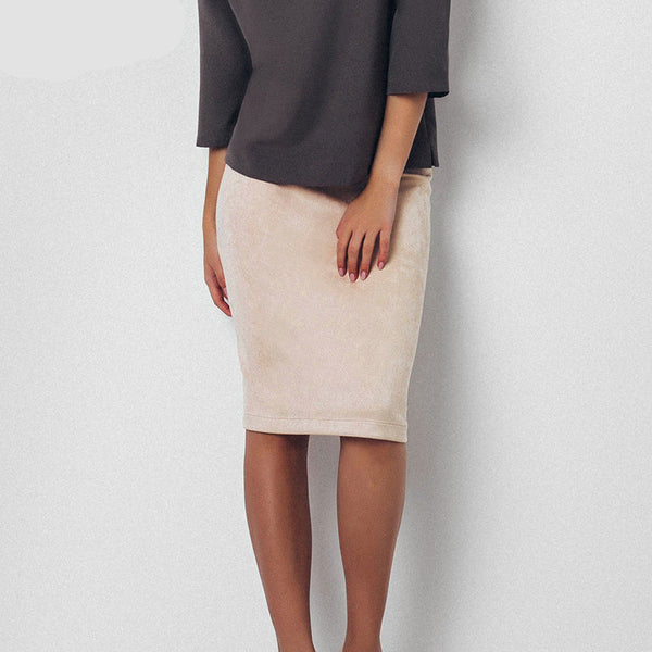 Slim Solid Color Package Hip Skirts