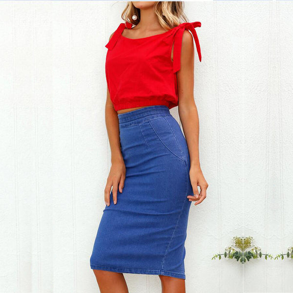 Casual Women'S Bag Hip Denim Skirt