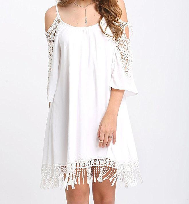 Loose Leisure Sling Strapless Dress
