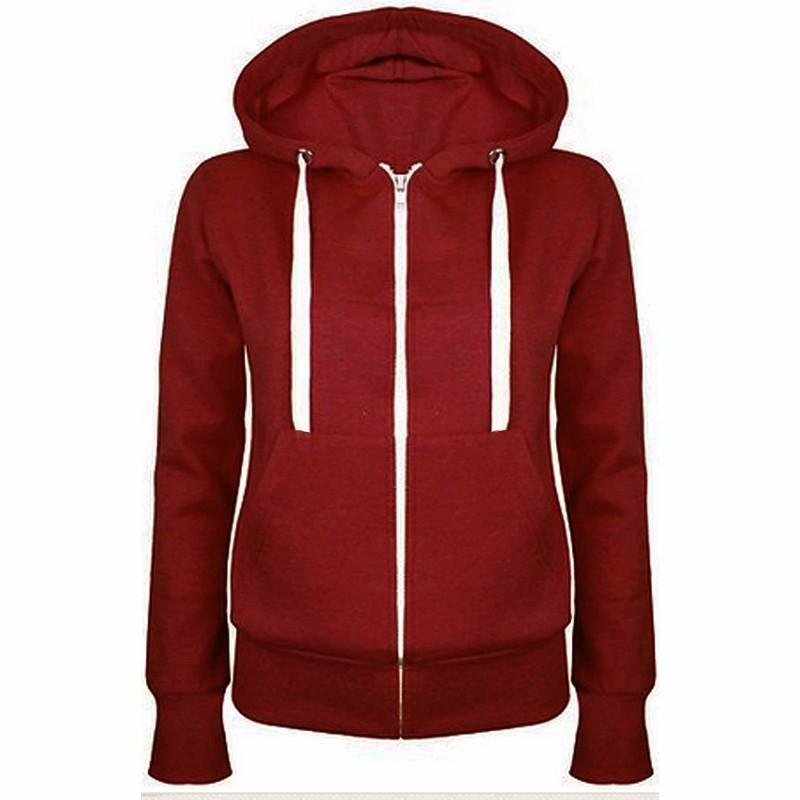 Long-Sleeved Hooded Zipper Sweater Cardigan Jacket