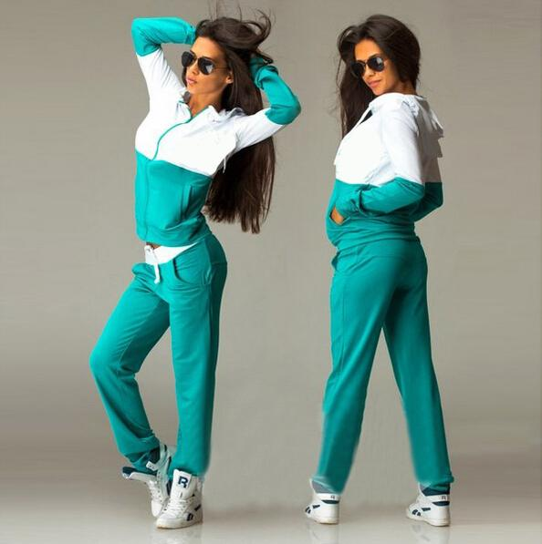 Women'S Long-Sleeved Hooded Two-Piece Pants