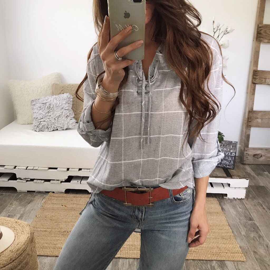 Long-Sleeved Lattice Corns Bandage Shirt