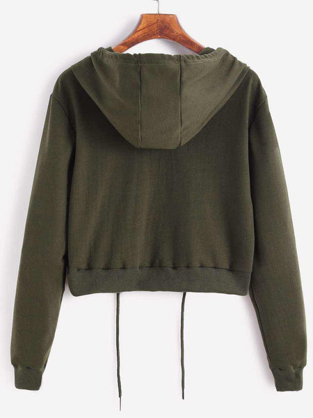 Women'S Hooded Long-Sleeved Sweater