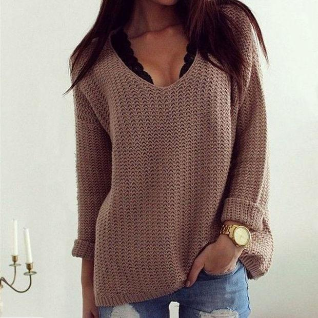 Casual Womens Long Sleeve Knitwear Jumper Cardigan Coat Jacket Sweater Pullover